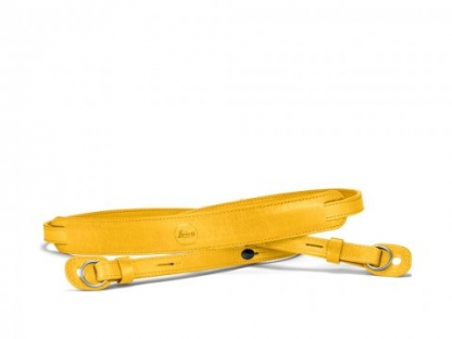 LEICA Leder Tragriemen gelb